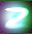 single light blue neon letter z of vector image vector image