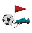 soccer sport game cartoons isolated vector image vector image