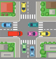 street crossing in city vector image vector image