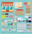 supermarket online website concept with food vector image vector image