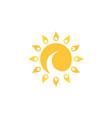 swirl sun vector image vector image