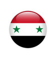 syria flag on button vector image vector image