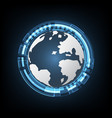 technology cyber abstract world circle background vector image vector image
