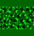 triangle background - green vector image vector image