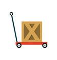 trolley hydraulic jack vector image vector image