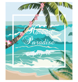 Tropical Exotic Summer Beach waves vector image vector image