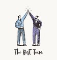 two successful business men partnership a vector image vector image