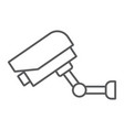 video surveillance thin line icon electronic vector image vector image