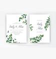 wedding leaves minimalist style invitation vector image vector image