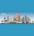 zunyi china city skyline with gray buildings and vector image vector image