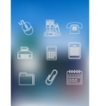 Office and business outline icons set vector image