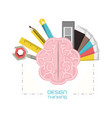 design thinking concept vector image