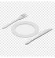 Cutlery isometric 3d icon vector image