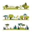 Set of different trees species vector image