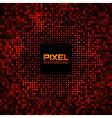 Abstract Pixel Red Bright Glow Background vector image vector image