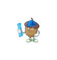 acorn mascot with architect on white background vector image vector image