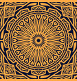 arabic pattern with round floral ornament vector image vector image