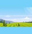 beautiful rural landscape vector image
