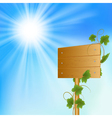 Blank wood billboard vector image vector image