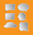 bubble icon set vector image vector image