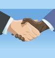 business handshake affiliate handshake shaking vector image