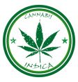 cannabis stamp vector image vector image