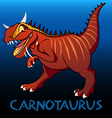 Carnotaurus cute character dinosaurs vector image vector image
