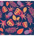 Cartoon tropical pattern vector image vector image
