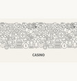 casino banner concept vector image vector image