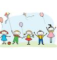 cheerful children vector image vector image