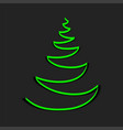 christmas green tree sign symbol emblem vector image