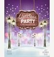 christmas holiday party flyer background vector image vector image