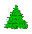 christmas tree cartoon design for card icon vector image