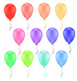 collection of color balloons vector image