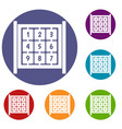 cubes with numbers on playground icons set vector image vector image