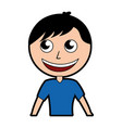 Cute upper body man cartoon vector image