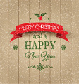 Decorative Christmas and New Year background vector image vector image