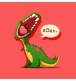 dinosaur is roaring vector image vector image