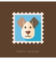 Dog flat stamp Animal head vector image vector image
