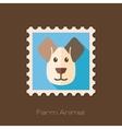 Dog flat stamp Animal head