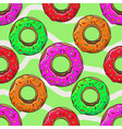 Donut with sprinkles seamless pattern vector image vector image