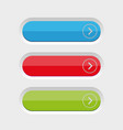 empty button set vector image vector image
