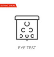 eye test icon vector image