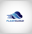 fast data cloud logo symbol icon vector image