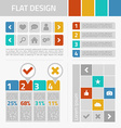 flat design kit vector image vector image