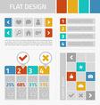 Flat design kit vector image vector image