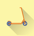 flat style kick scooter icon vector image