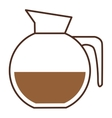 glass jar of coffee with handle vector image vector image
