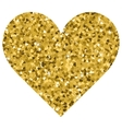Glitter Valentines Day love heart on a white vector image vector image