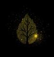 gold glitter tree luxury golden vector image vector image